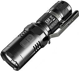 NITECORE EA11–14500batería CREE XM-L2U2900lm linterna LED con Secundaria Rojo de salida, Negro, Izquierda/Derecha
