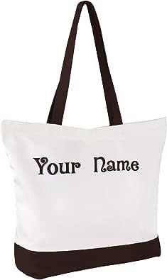 customized handbag, COFFEE WORD CUP Tote Bag canvas tote bag custom tote bag monogram handbag personalized bag