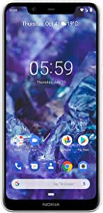 "Nokia Mobile Nokia 5.1 Plus - Android 9.0 Pie - 32 GB - Dual Camera - Dual SIM Unlocked Smartphone (AT&T/T-Mobile/MetroPCS/Cricket/Mint) - 5.86"" 19:9 HD+ Screen - White"
