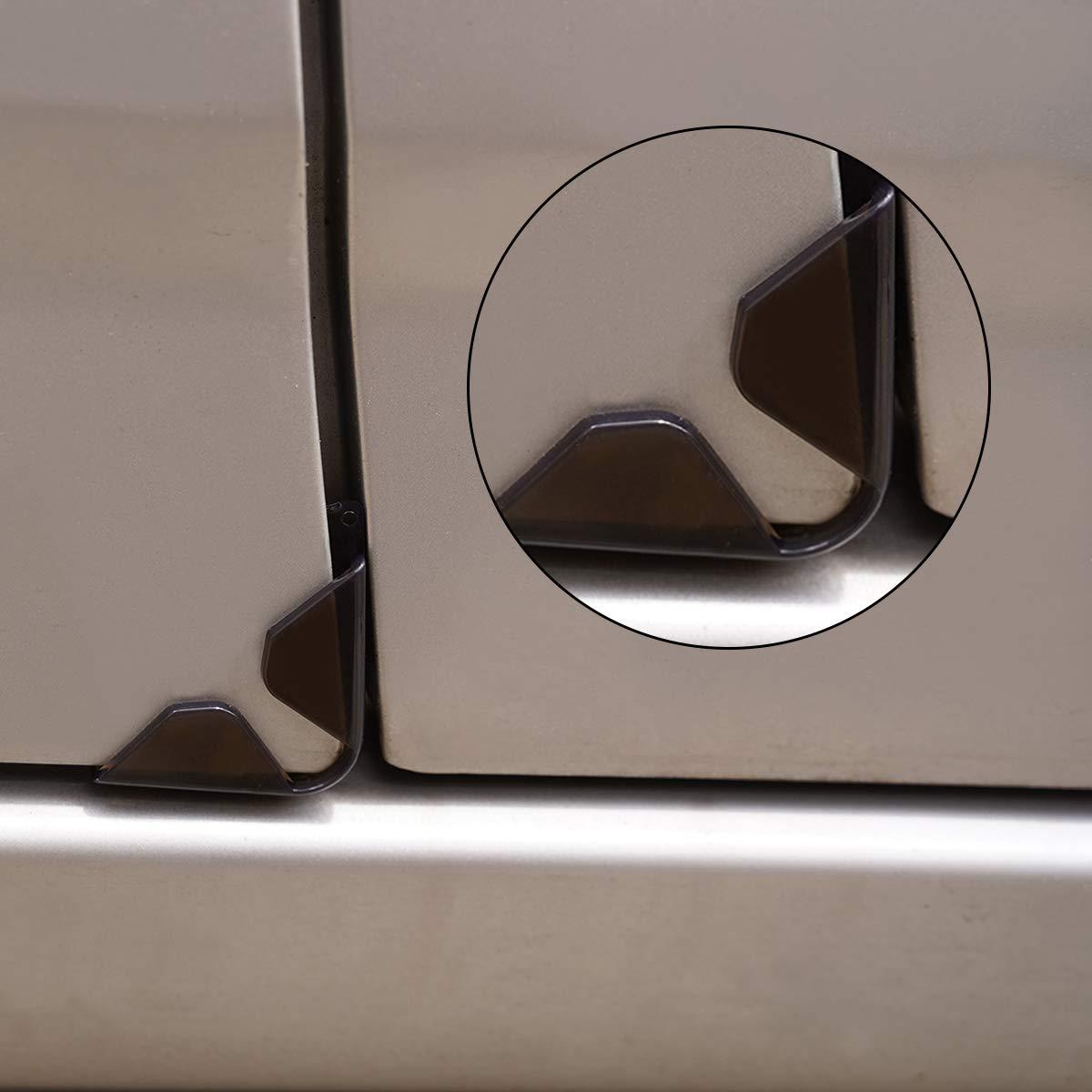 Senzeal Car Door Protector Corner Car Door Side Guard Edge Protector Bumper Anti-Scratch Corner Fit for Most Cars 4pcs Black