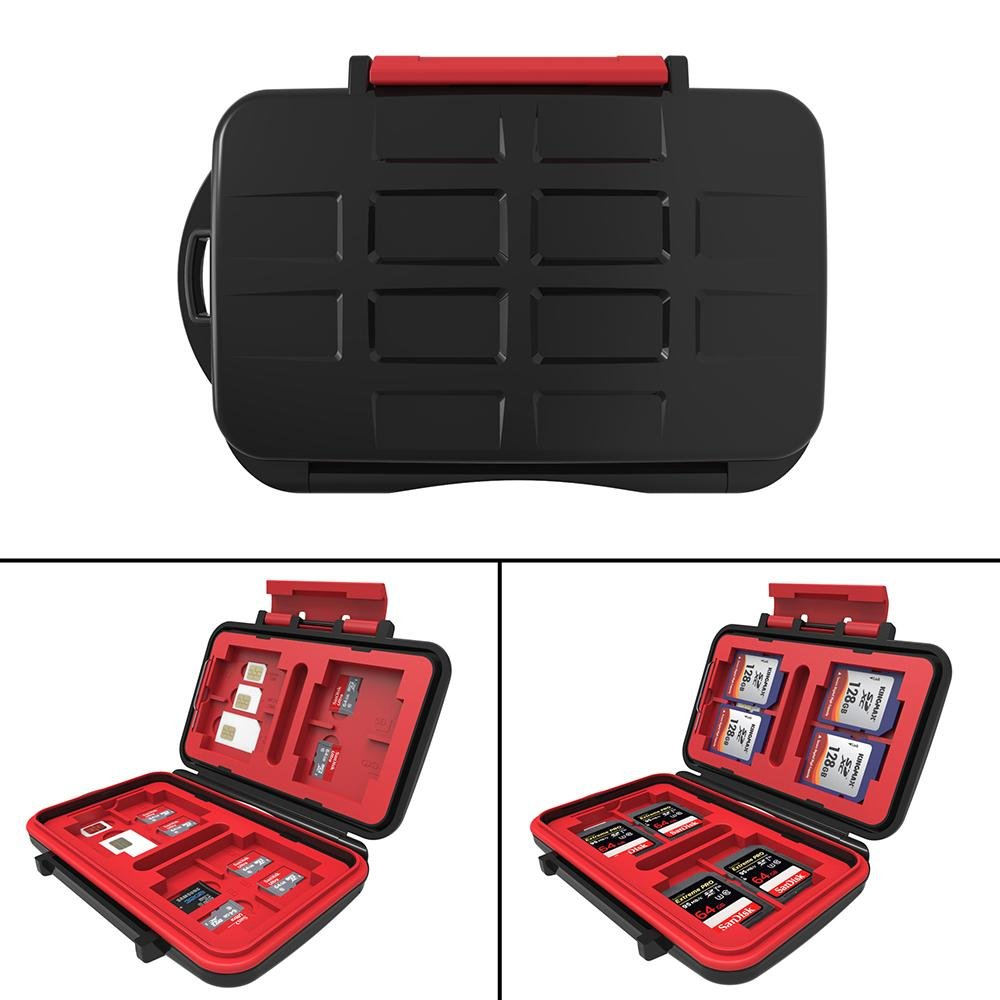 Memory Card Case Carrying Holder, niceEshop(TM)Waterproof & Shockproof 24 Slots Memory Card Case Box for Card Pin TF Cards SD Cards CF Cards B072QBGPN5
