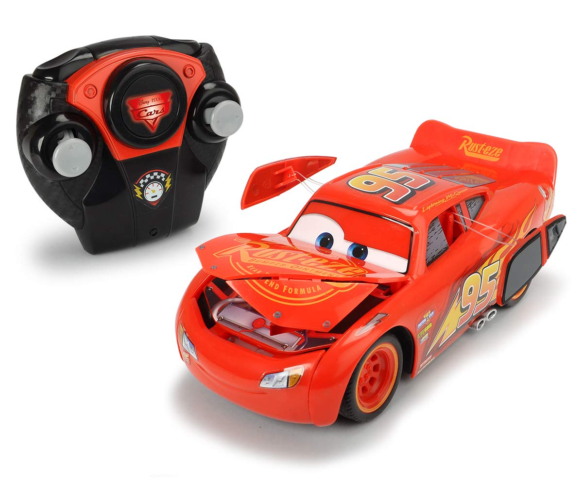 Majorette – Cars 3 Crash 1/24 Coche Flash MC Queen, 7/213084018web, Rojo