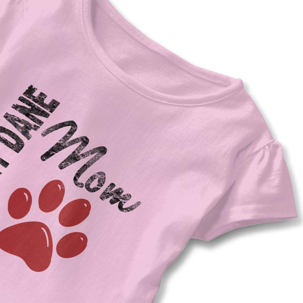 CZnuen Great DANE MOM Baby Girls Basic Short Puff Sleeve Round Neck Ruffle T-Shirt