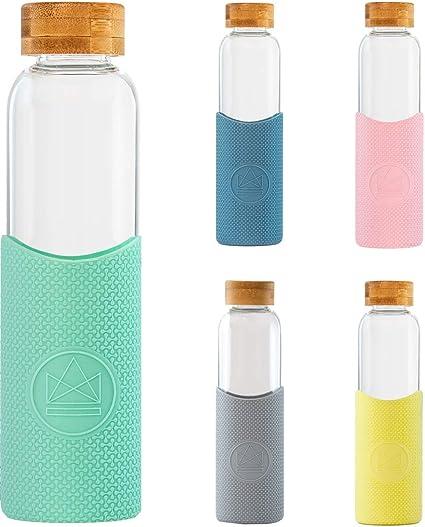 Neon Kactus - Botellas de Agua de Cristal 550ml (Verde Pastel ...