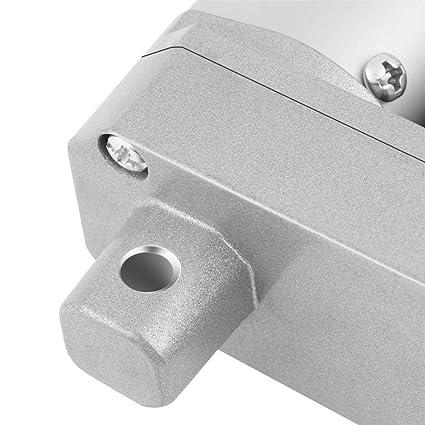 Itinerario300mm Automatizaci/ón progresiva Actuador lineal DC 12V 1000N Carrera de 150-500 mm Actuador lineal Levante el soporte del motor el/éctrico con soportes de montaje para