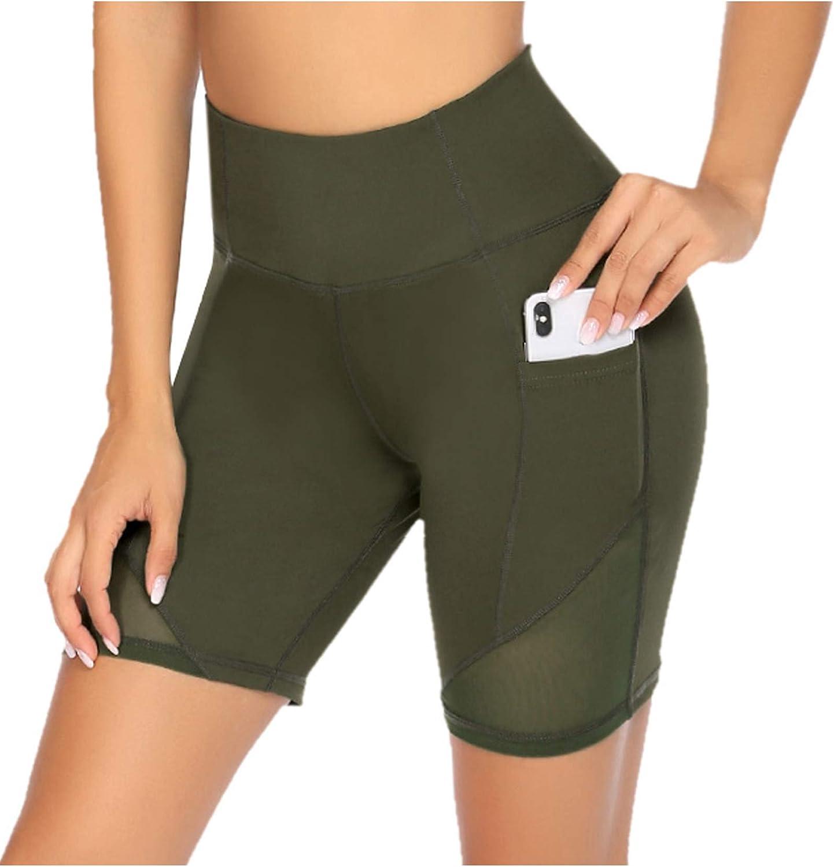 COOrun/Womens/Yoga Biker/Shorts/Side/Pocket/Running/Shorts/Soft/Legging/Shorts