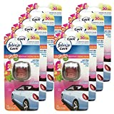 Febreze Car Vent Clips Air Freshener and Odor Eliminator, Gain Island Fresh Scent - 8 Pieces