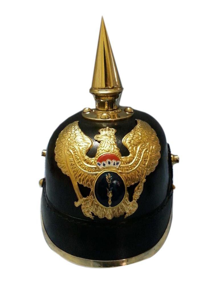 品揃え豊富で Queen Brass Brass Queen Leather Leather ArmorスパイクヘルメットドイツPickelhaube Prussian標準ブラックゴールド B01H5X6W3S, 高田卸方屋:24b5bd6d --- a0267596.xsph.ru