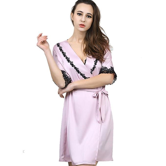 WTUS Albornoz Pijama Camisón Robe Bata Ropa de Dormir para Mujer