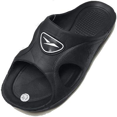 ICS Gear One Men's Rubber Slide Sandal Slipper Comfortable Shower Beach Shoe Slip on Flip Flop   Sport Sandals & Slides