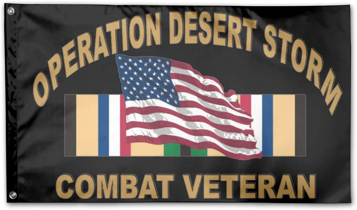 HOOSUNFlagrbfa Operation Desert Storm Combat Veteran Garden Flags 3 X 5 in Indoor&Outdoor Decorative Home Fall Flags Holiday Decor