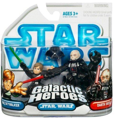 Jedi Luke Skywalker & Darth Vader (Removable Helmet) Action Figure 2-Pack Darth Vader Removable Helmet