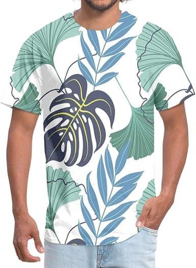 Camiseta de manga corta con estampado 3D para hombre de ...