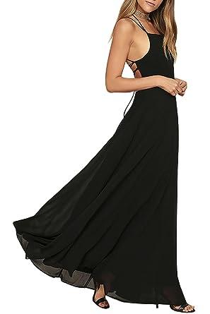 MARSEN Homecoming Dresses, Cocktail Party Dresses, Black Chiffon Dresses 2017 Black Long Size XS