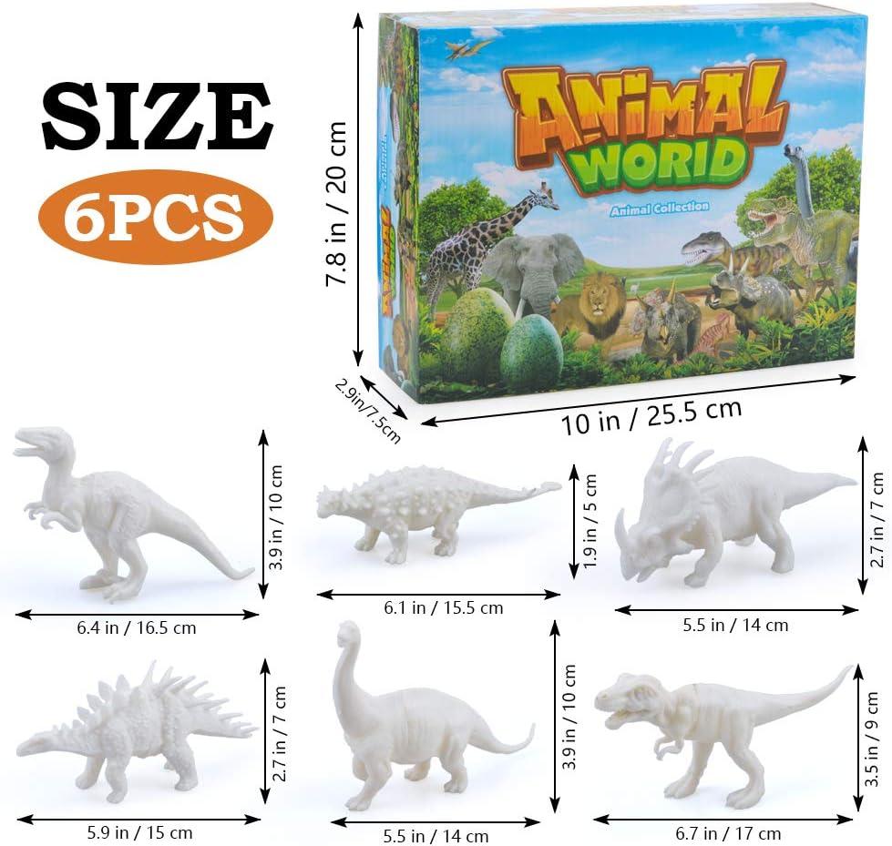 LITTLEFUN Painting Dinosaurs for Kids DIY Dinosaur Arts Crafts Gift for Boys Girls Kids