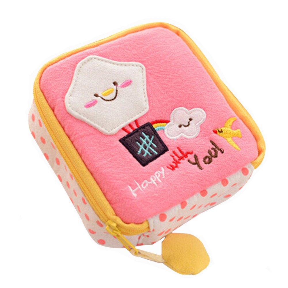 Sanwood Cute Cartoon toalla sanitaria toalla almohadillas Bolsa Pequeña Soporte Organizador: Amazon.es: Equipaje