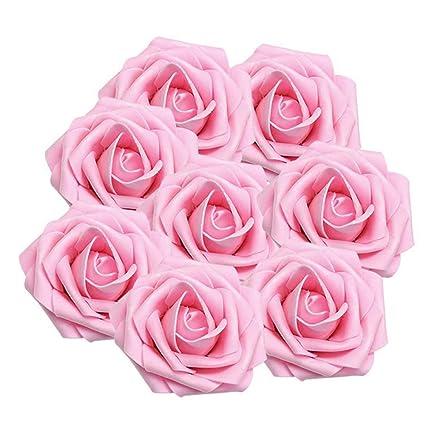 b344df65469 Enjoygous 150PCS Artificial Roses Flowers Heads, Fake Silk Roses Heads  Vintage Floral Decor for DIY Wedding Bouquets Centerpieces Arrangements  Party ...