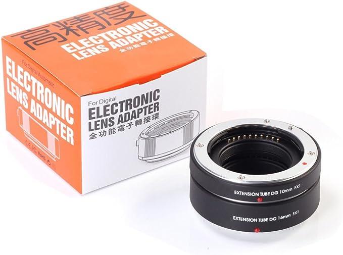 Fotga Makro Af Autofokus Extension Tube 10mm 16mm Set Kamera