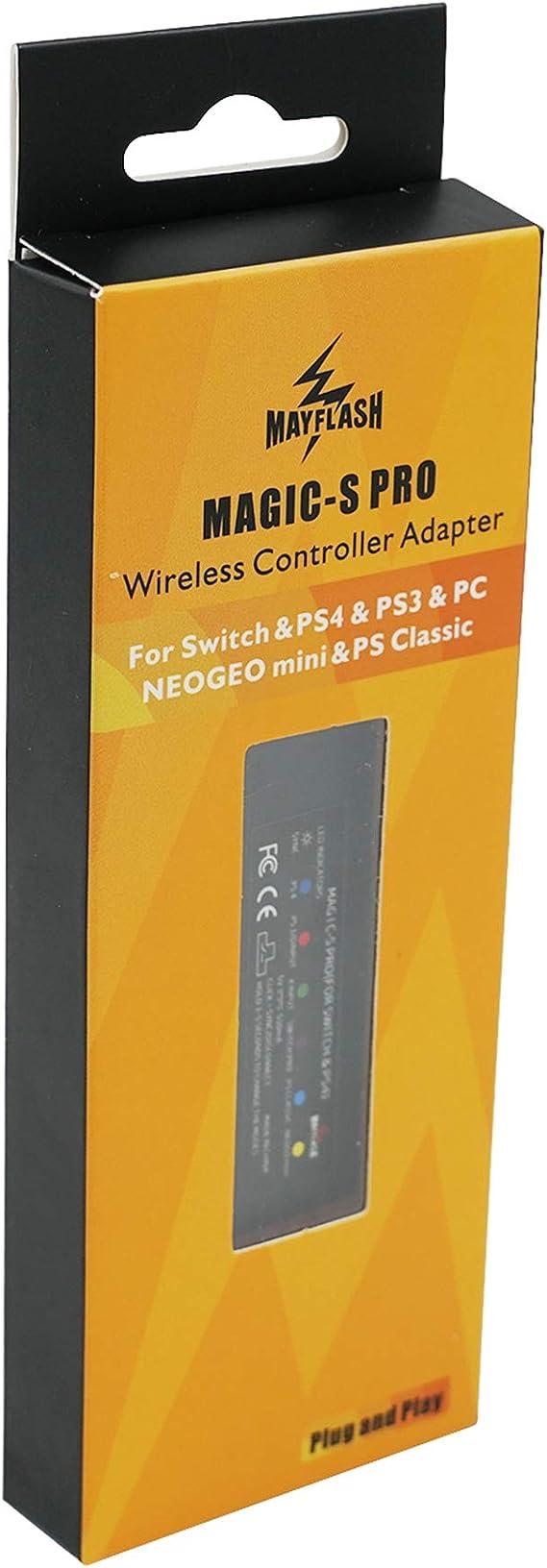 Mcbazel MAGIC-S Pro Wireless Controller Adapter for Nintendo Switch/PS4/PS3/PC/NEOGEO mini/PS Classic with Bottle Opener: Amazon.es: Videojuegos