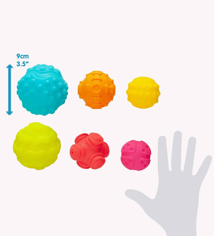 40195 Multicolore Playgro Balles Sensorielles /À partir de 6 mois