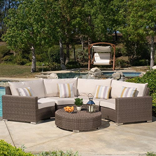 Gregory Outdoor 5-piece Aluminum Sectional Seating Set with