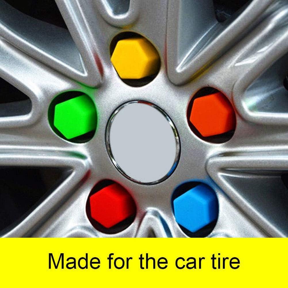 longyitrade 20pcs Veicolo Auto Ruota Lug bullone Dadi coperture Caps Strumento di rimozione per Audi VW Verde 17mm