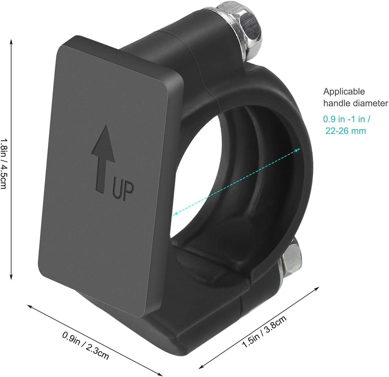 Keenso Support dAffichage de Vitesse dEngrenage Convient 22mm-28.6mm Support de Moto Indicateur de Vitesse Universelle en Alliage dAluminium