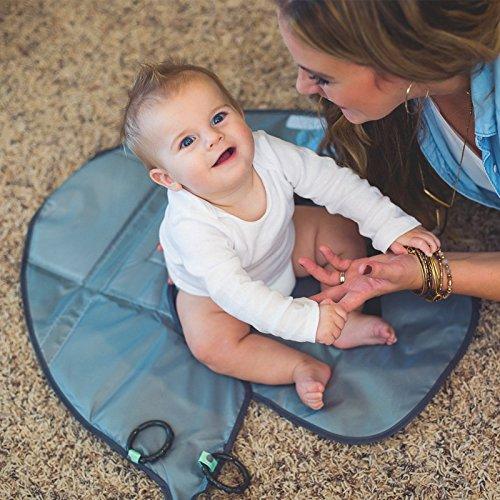 Blau kompakt faltbar wasserdicht Vvciic Baby Wickelunterlage waschbar tragbar