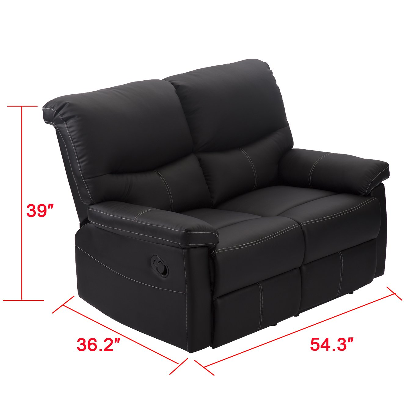 Amazon.com: Sofá de 2 Set Loveseat chaise sofá sillón ...