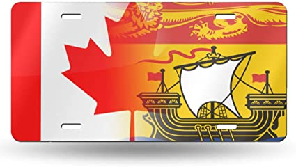 New Brunswick Provinical Flag Metal Licence Plate 6x12 inches Aluminum Plate Car Vanity Tag
