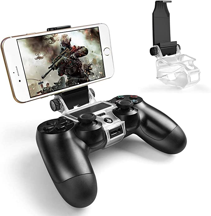 Amazon Com Ps4 Controller Phone Holder Megadream 180 Degree Rotation Gaming Mount Stand For Sony Playstation 4 Ps4 Slim Ps4 Pro Android S10 S10 S20 S20 5g Note 10 9 8 Lg Htc Moto Lg W Otg