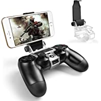 PS4 Controller Phone Holder, Megadream 180 Degree Rotation Gaming Mount Stand for Sony Playstation 4, PS4 Slim, PS4 Pro…