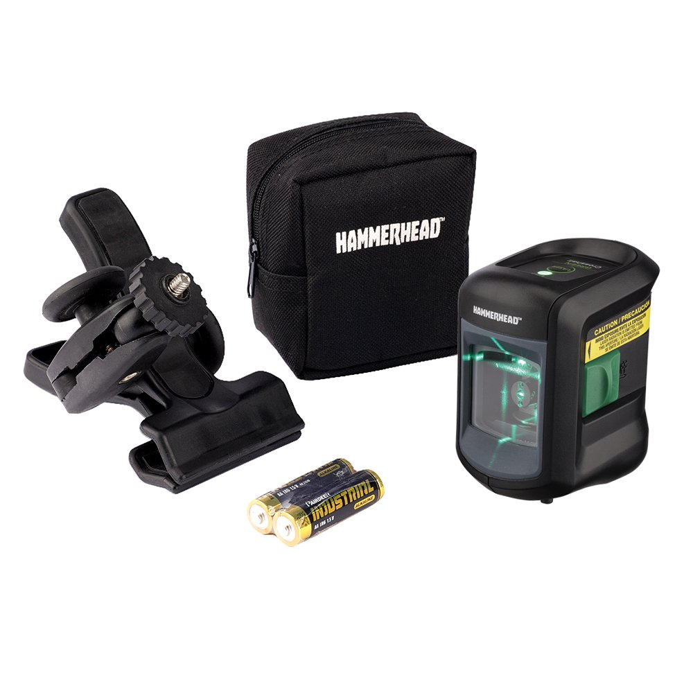 HAMMERHEAD HLCLG01 Green Beam COMPACT Self-Leveling Cross Line Laser Review