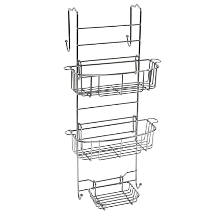 Amazon.com: Zenna Home E7803STBB, Over-the-Shower Door Caddy ...
