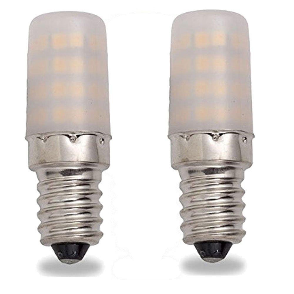 2 x Bombilla Led nevera nevera bajo consumo A + + E14 luz blanca ...