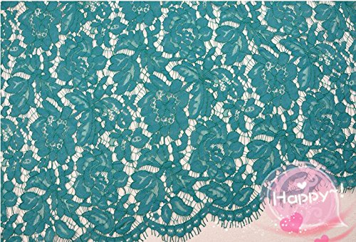 Wide 150cm Nylon Lace Fabric Textile Fabrics Flower African Wholesale Floral Dress Wedding Craft Soft Delicate Trim 10pcs (7)