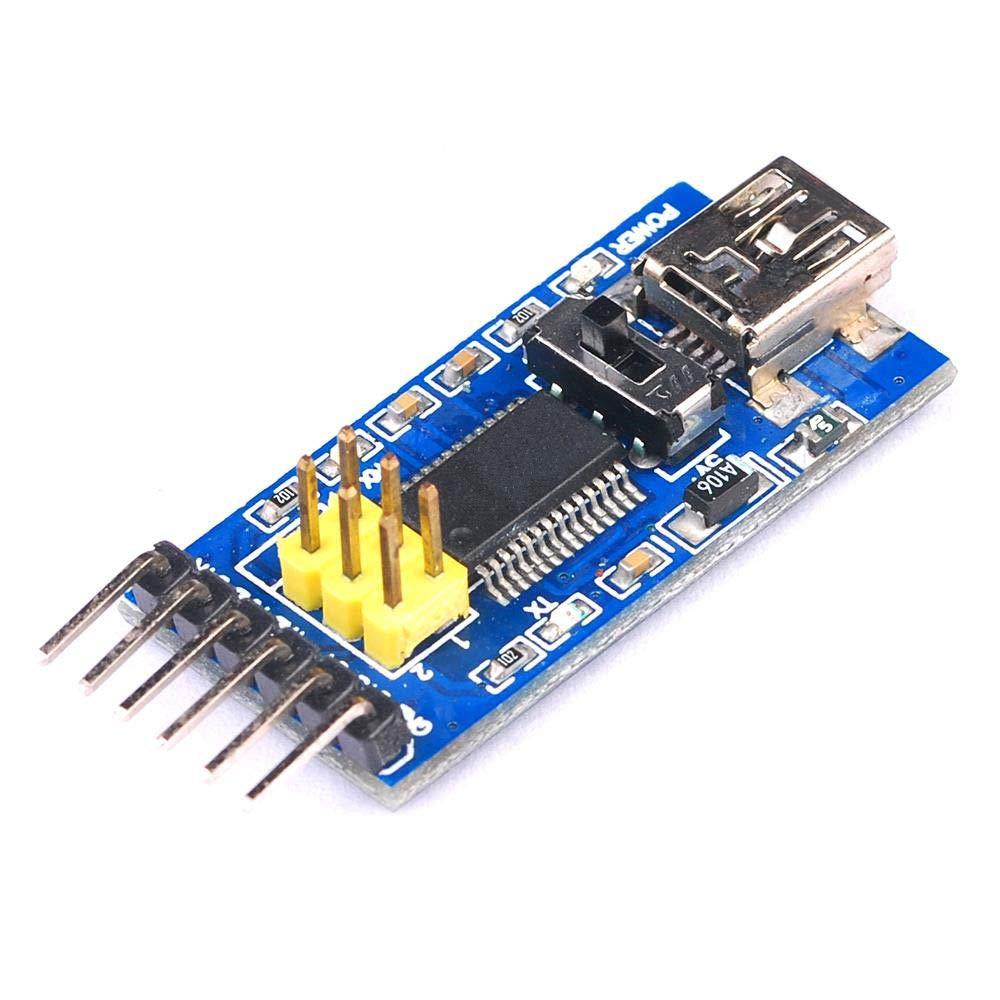 Basic Breakout Board For FT232RL USB to TTL Serial IC Adaptor 3.3V 5V FT232