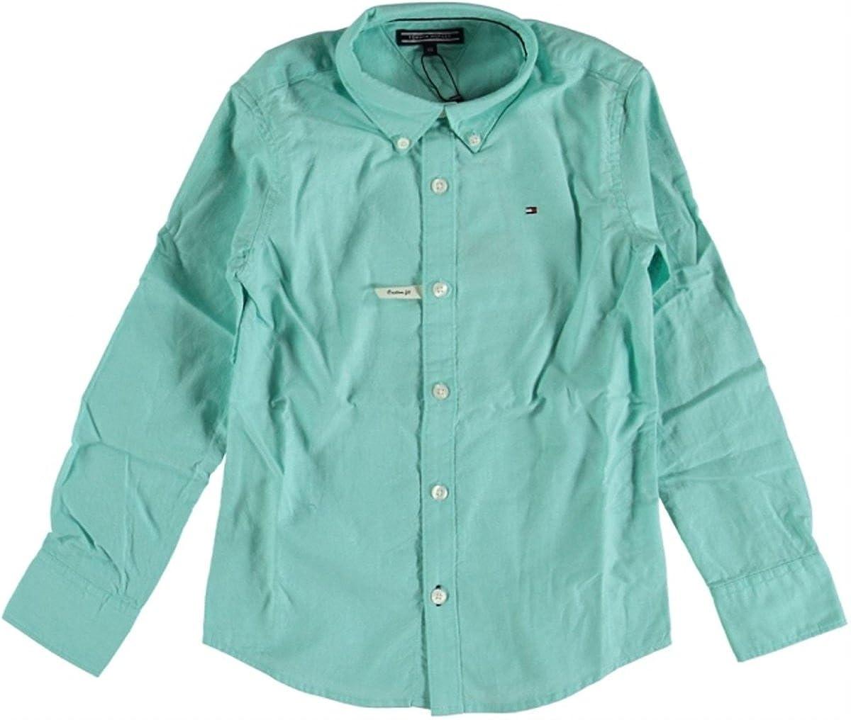 Tommy Hilfiger - Camisa - para niño Azul 128: Amazon.es: Ropa y accesorios