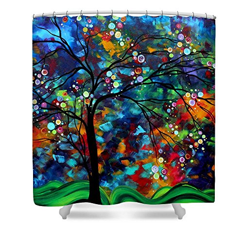 - Landscape Painting Shimmer in The Sky Waterproof Polyester Fabric Shower Curtain 66(W) by 72(H)