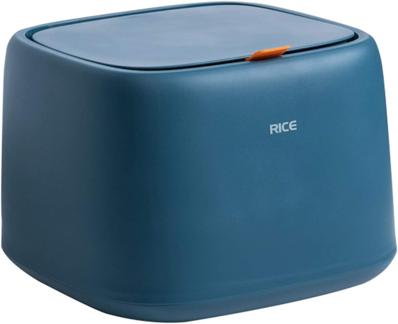 Rice Storage Container Dispenser 25lbs - Store up to 25lbs of Dry Food | Large Pet Food Storage Bin for Dogs and Cats | Includes measuring cup (Dark Blue)