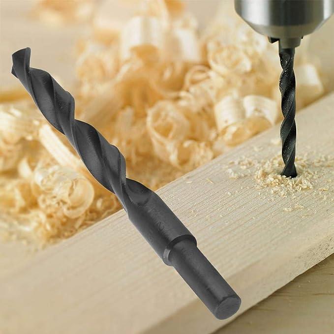 Steel Plastic Non-Ferrous ect Blacksmiths Drill Bit MASO 13 mm Blacksmith Reduced Shank HSS Drill Bit for Aluminium Wood