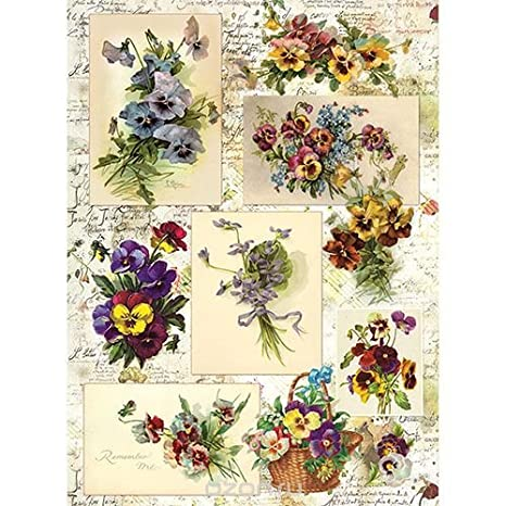 Rice Paper for decoupage~ 11.1 x 15.11 inches Made in Russia Figures in Ink