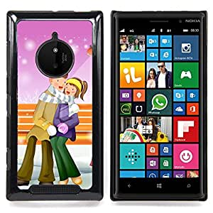 Cute Winter Christmas Couple Caja protectora de pl??stico duro Dise?¡Àado King Case For Nokia Lumia 830