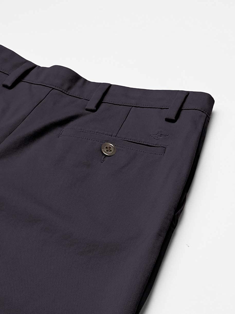 Dockers Mens Easy Khaki Classic Fit Pant-Pleated D3 Casual Pants Navy (Stretch)