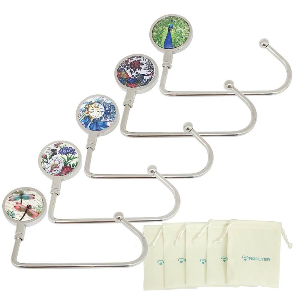 ROFLYER Nature Instant Swivel Top Purse Hook Hanger Under Counter Handbags Hooks (Set of 5) by ROFLYER (Image #2)