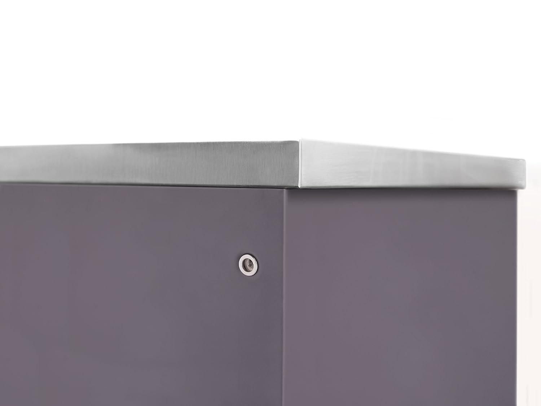 NewAge 65200 Outdoor Kitchen Storage 2 Door Cabinet Slate Gray