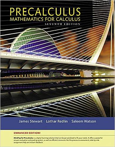 Precalculus Enhanced Edition James Stewart Lothar Redlin Saleem
