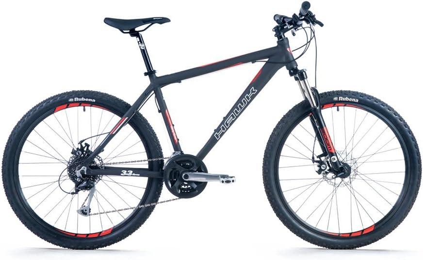 Hawk thirt ythree de 26 – 6061 T6 aluminio Mountain Bike Bicicleta 26 pulgadas Hardtail con 80 mm horquilla y Shimano de 24 marchas