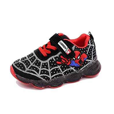 af06cd7b95 ANKIDS Kids Toddler LED Light up Shoes Boys Girls Spider-Man Shoes 7.5  Little Kid