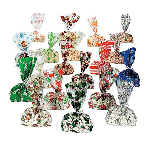 Christmas Cellophane Bags 9 dz assortmet - 108 pc by (Dz Bags)